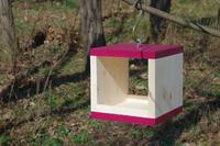 Ptačí krmítko Rubikus Burgundy