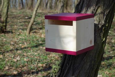 Ptačí budka Rubikus Burgundy - 1
