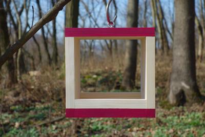 Ptačí krmítko Rubikus Burgundy - 1