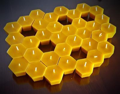 Plovoucí svíčka ze včelího vosku - 2