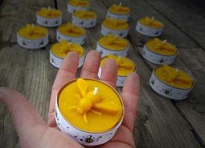 Velká čmeláčí čajová svíčka ze včelího vosku - 2