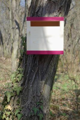 Ptačí budka Rubikus Burgundy - 2