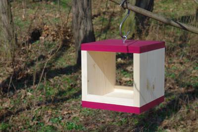 Ptačí krmítko Rubikus Burgundy - 2