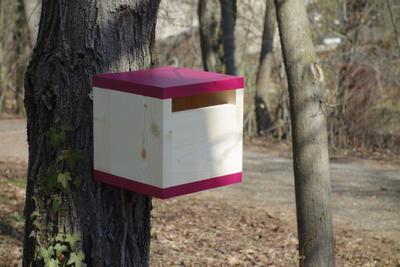 Ptačí budka Rubikus Burgundy - 3