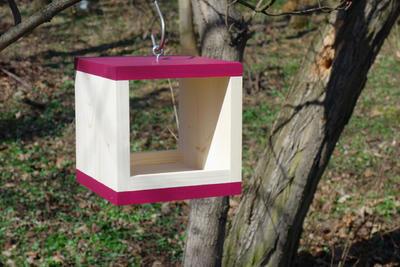 Ptačí krmítko Rubikus Burgundy - 3