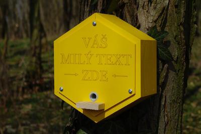 Originální čmelín s vlastním textem, Dijon - žlutá - 6